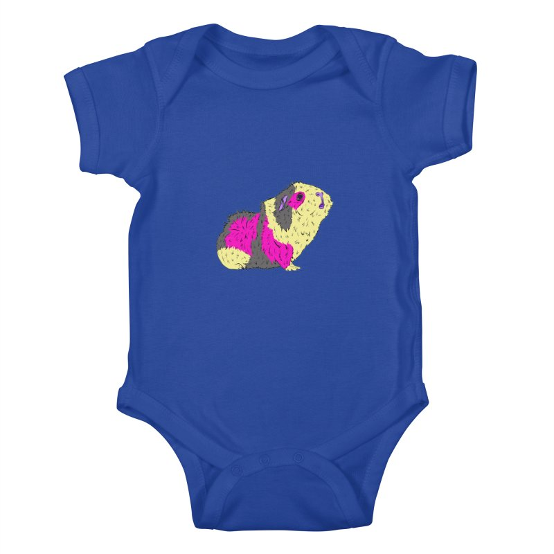 Piggy Stardust - Bowie Guinea Pig Tribute Kids Baby Bodysuit by Shelly Still's Artist Shop