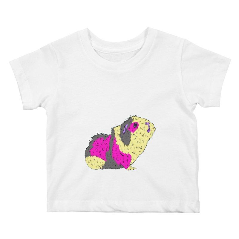 Piggy Stardust - Bowie Guinea Pig Tribute Kids Baby T-Shirt by Shelly Still's Artist Shop