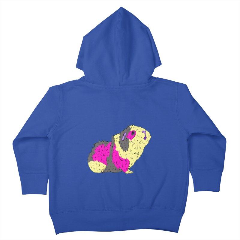 Piggy Stardust - Bowie Guinea Pig Tribute Kids Toddler Zip-Up Hoody by Shelly Still's Artist Shop