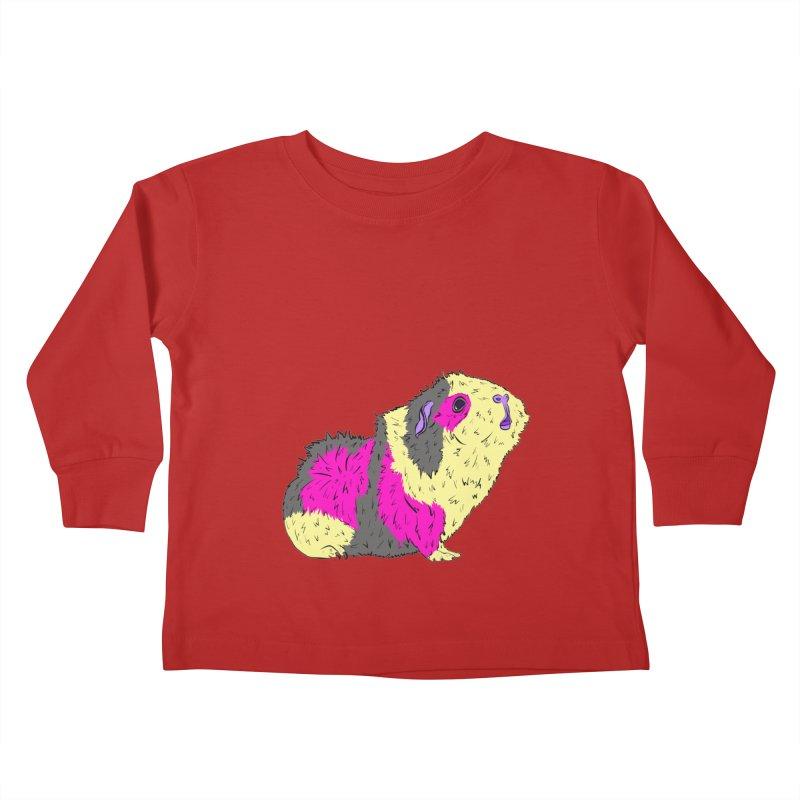 Piggy Stardust - Bowie Guinea Pig Tribute Kids Toddler Longsleeve T-Shirt by Shelly Still's Artist Shop