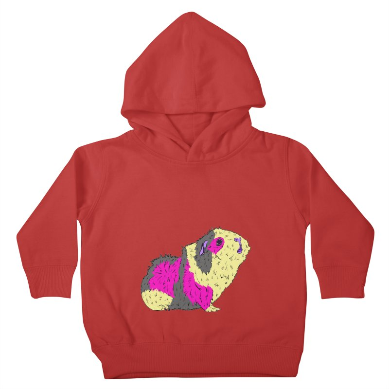 Piggy Stardust - Bowie Guinea Pig Tribute Kids Toddler Pullover Hoody by Shelly Still's Artist Shop