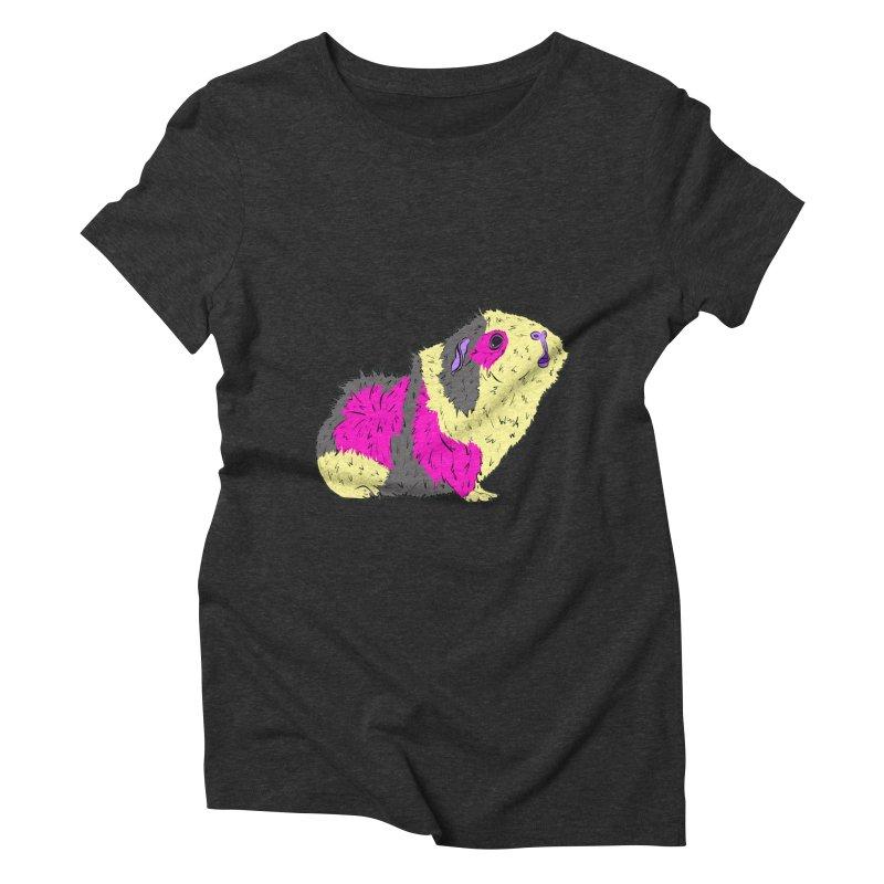 Piggy Stardust - Bowie Guinea Pig Tribute Women's Triblend T-shirt by Shelly Still's Artist Shop