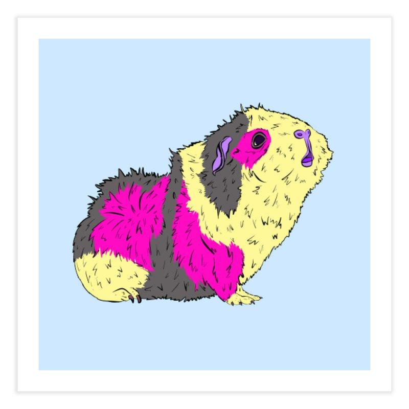 Piggy Stardust - Bowie Guinea Pig Tribute Home Fine Art Print by Shelly Still's Artist Shop