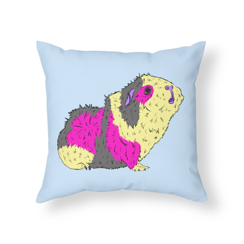 Piggy Stardust - Bowie Guinea Pig Tribute Home Throw Pillow by Shelly Still's Artist Shop