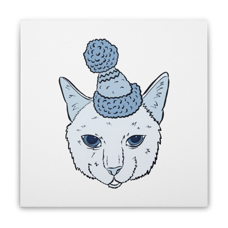 That Cat in the Hat Home Stretched Canvas by Shelly Still's Artist Shop