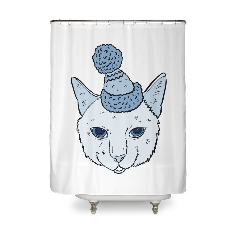 That Cat in the Hat Home Shower Curtain by Shelly Still's Artist Shop