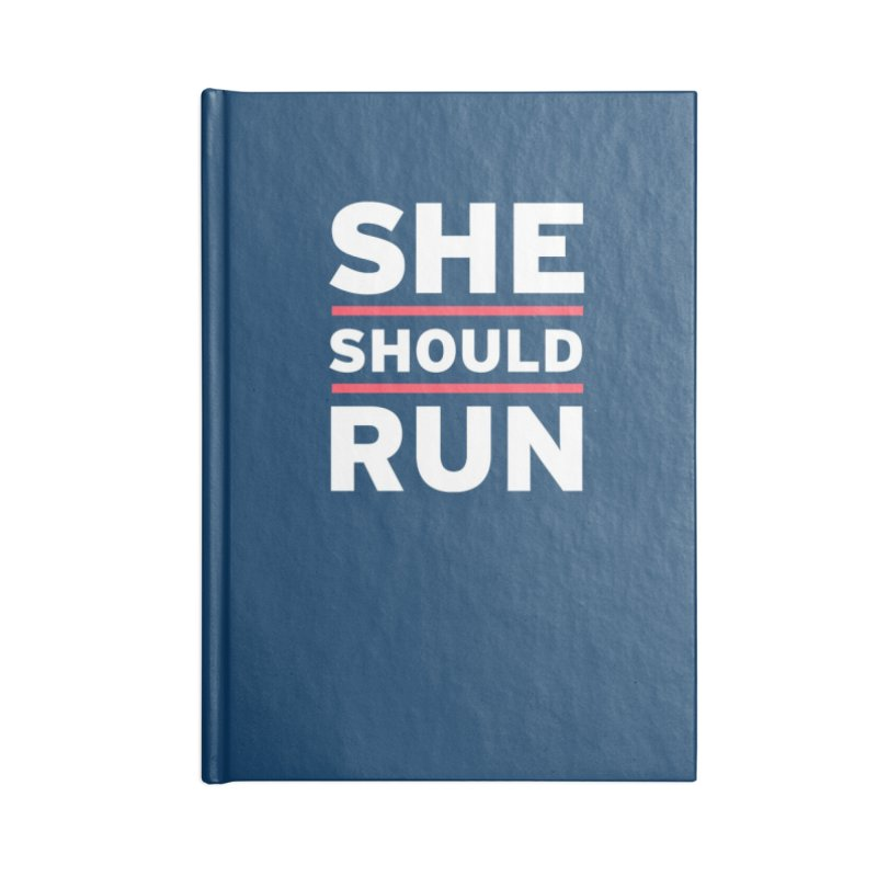 She Should Run Logo Accessories Notebook by She Should Run Swag Shop