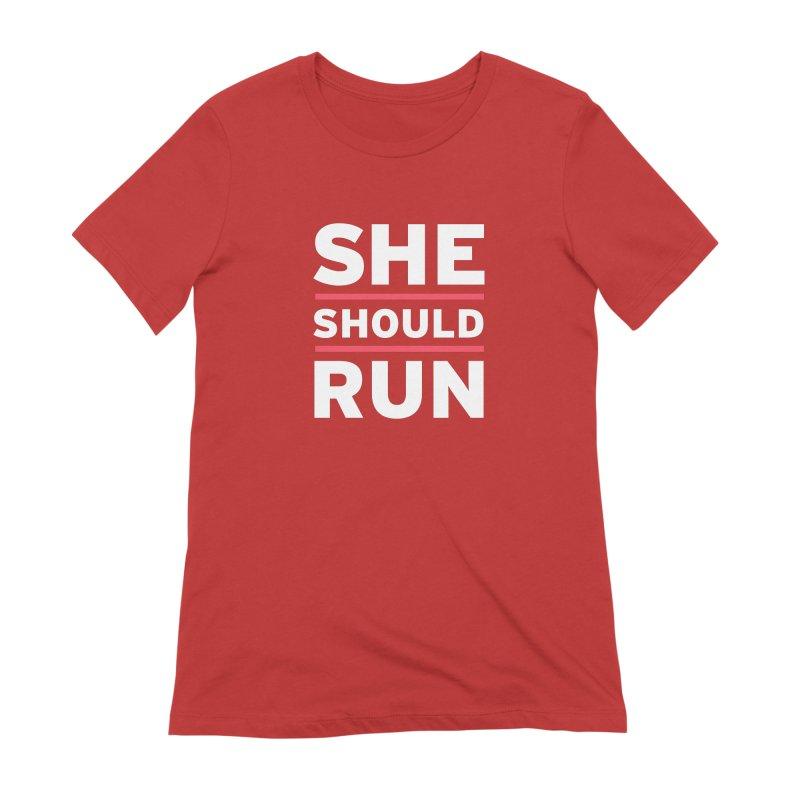 She Should Run Logo Women's Extra Soft T-Shirt by She Should Run Swag Shop