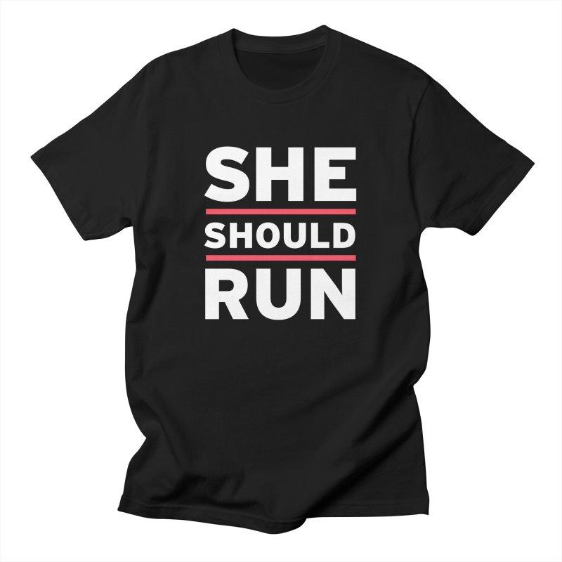 She Should Run Logo Men's T-Shirt by She Should Run Swag Shop