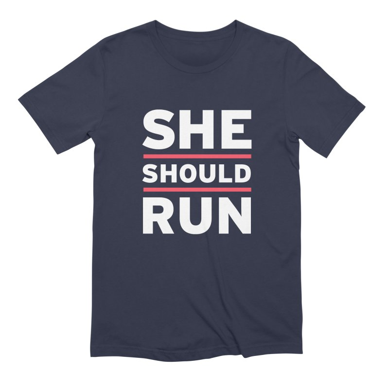 She Should Run Logo Men's Extra Soft T-Shirt by She Should Run Swag Shop