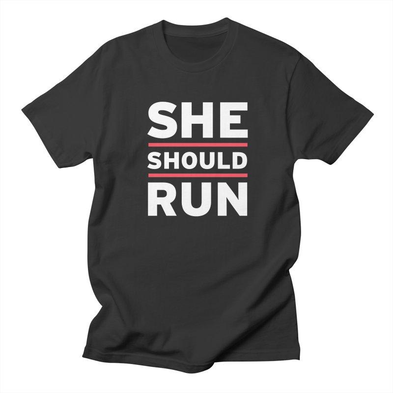 She Should Run Logo Women's Regular Unisex T-Shirt by She Should Run Swag Shop