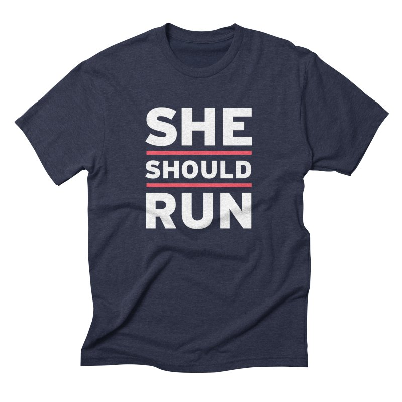 She Should Run Logo Men's Triblend T-Shirt by She Should Run Swag Shop