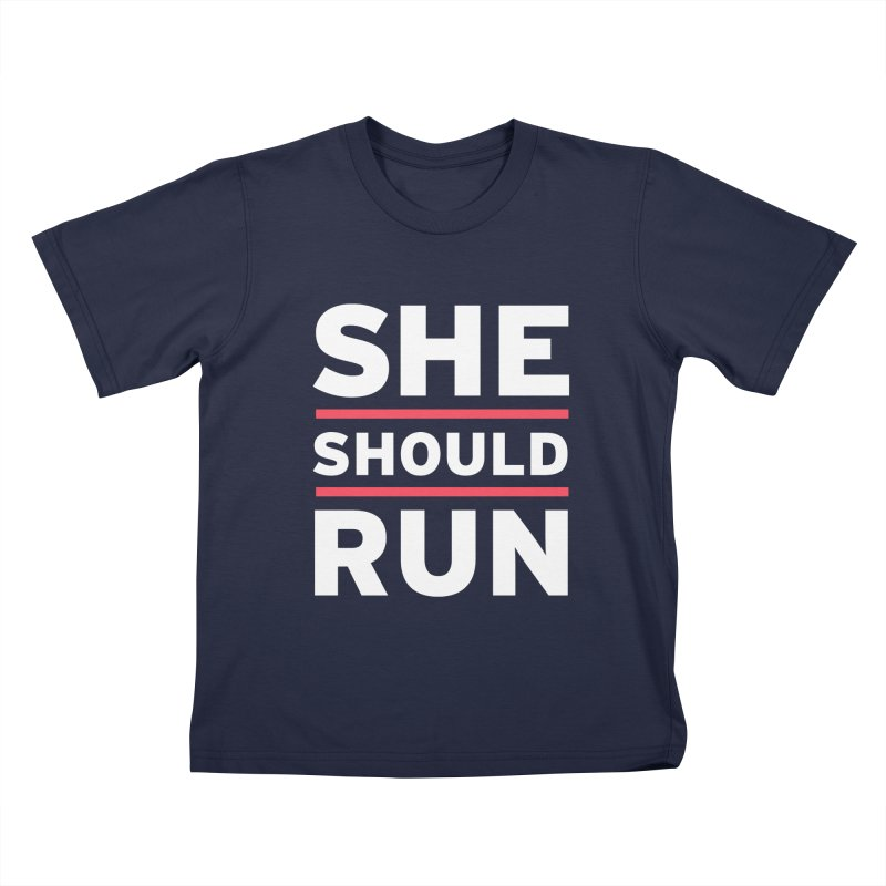 She Should Run Logo Kids T-Shirt by She Should Run Swag Shop