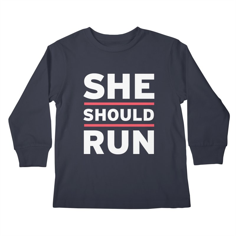 She Should Run Logo Kids Longsleeve T-Shirt by She Should Run Swag Shop