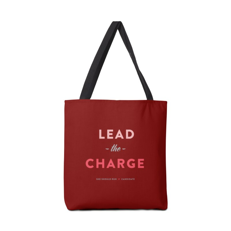 Lead the Charge Accessories Tote Bag Bag by She Should Run Swag Shop