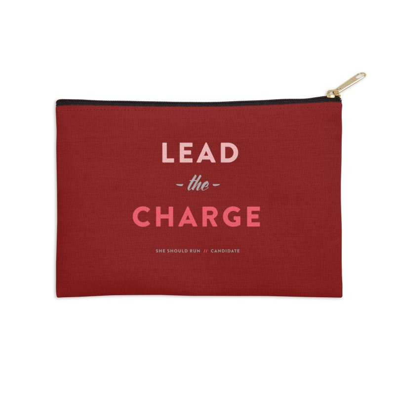 Lead the Charge Accessories Zip Pouch by She Should Run Swag Shop