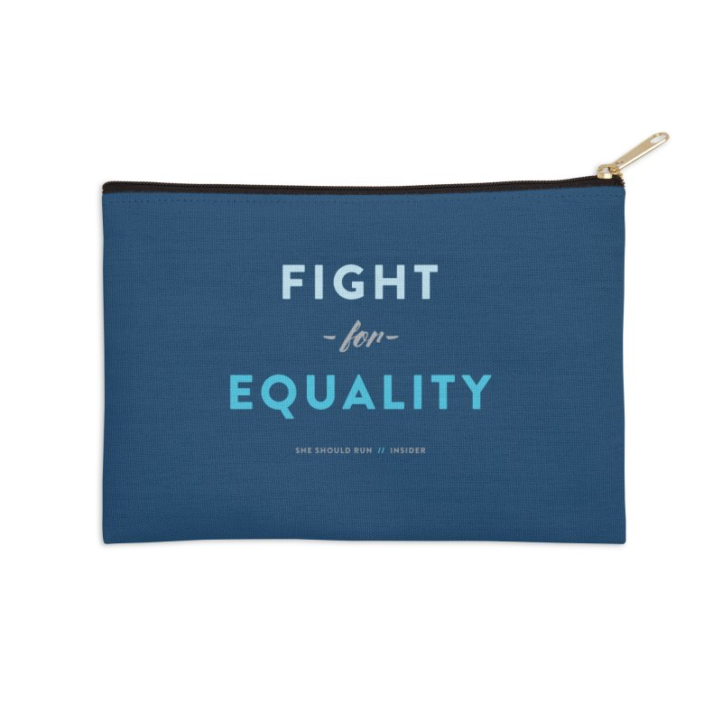 Fight for Equality Accessories Zip Pouch by She Should Run Swag Shop