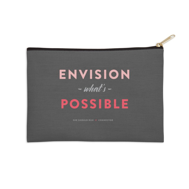 Envision What's Possible Accessories Zip Pouch by She Should Run Swag Shop