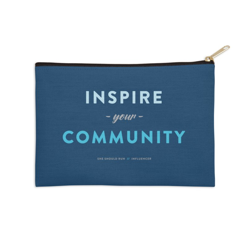 Inspire Your Community Accessories Zip Pouch by She Should Run Swag Shop
