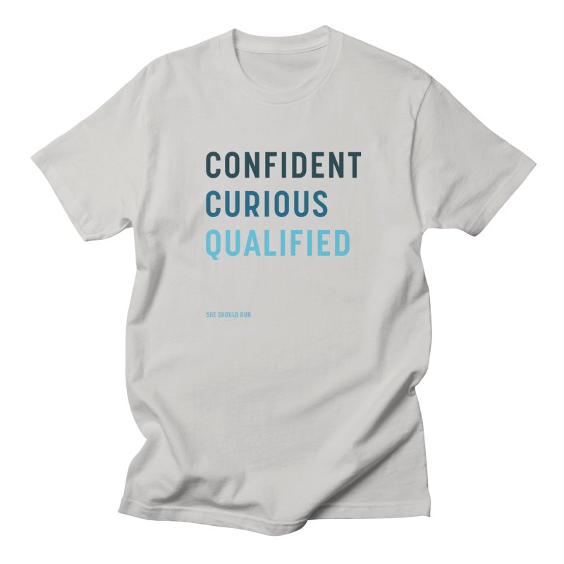 Confident, Curious, and Qualified Men's T-Shirt by She Should Run Swag Shop