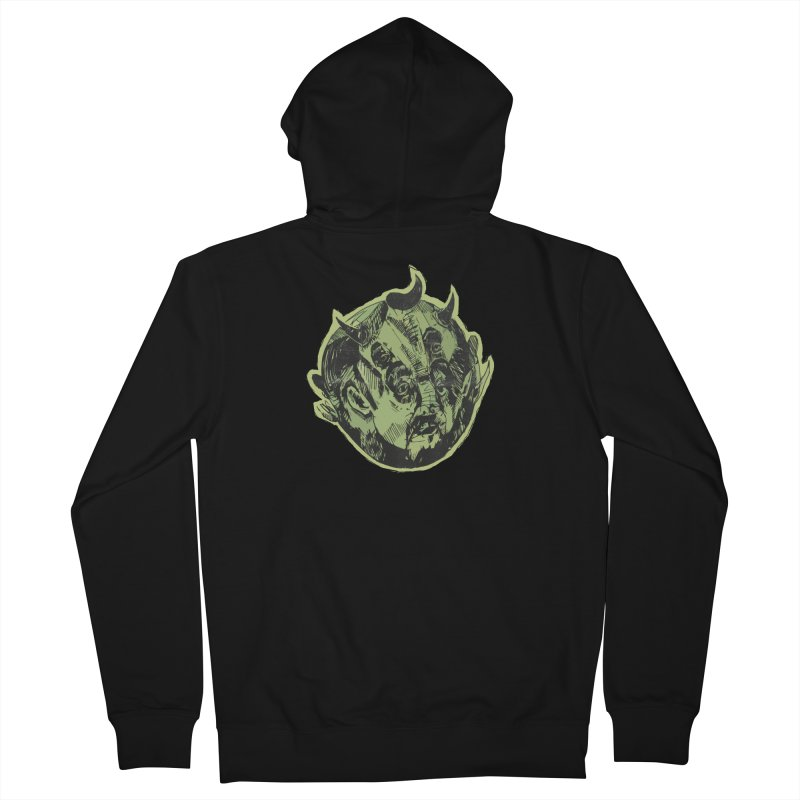 Angry drunk devil Men's Zip-Up Hoody by shewo's Artist Shop