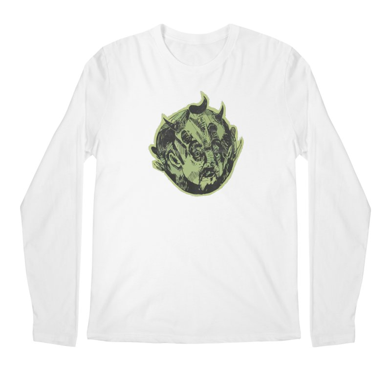 Angry drunk devil Men's Longsleeve T-Shirt by shewo's Artist Shop