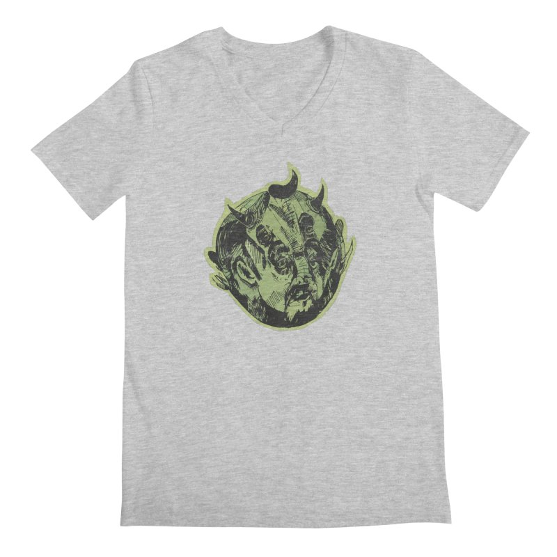 Angry drunk devil Men's V-Neck by shewo's Artist Shop