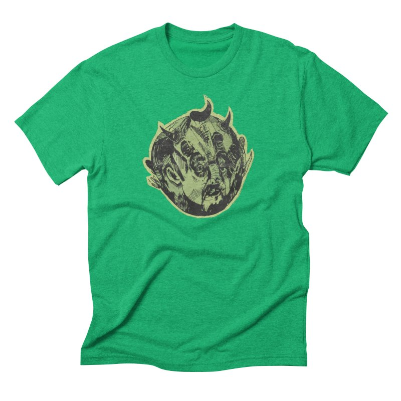Angry drunk devil Men's Triblend T-shirt by shewo's Artist Shop