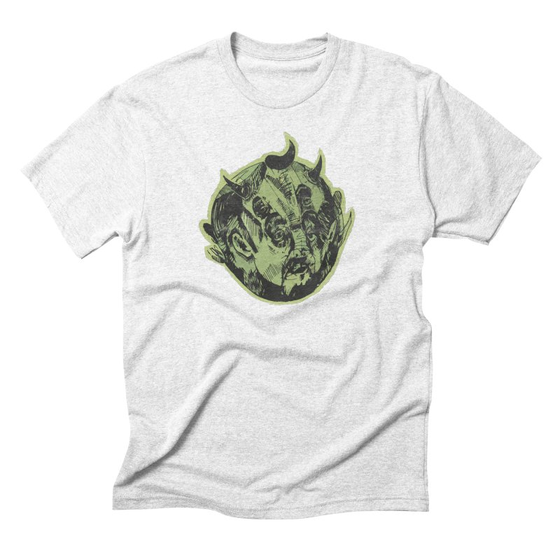 Angry drunk devil Men's Triblend T-shirt by shewo's Artist Shop