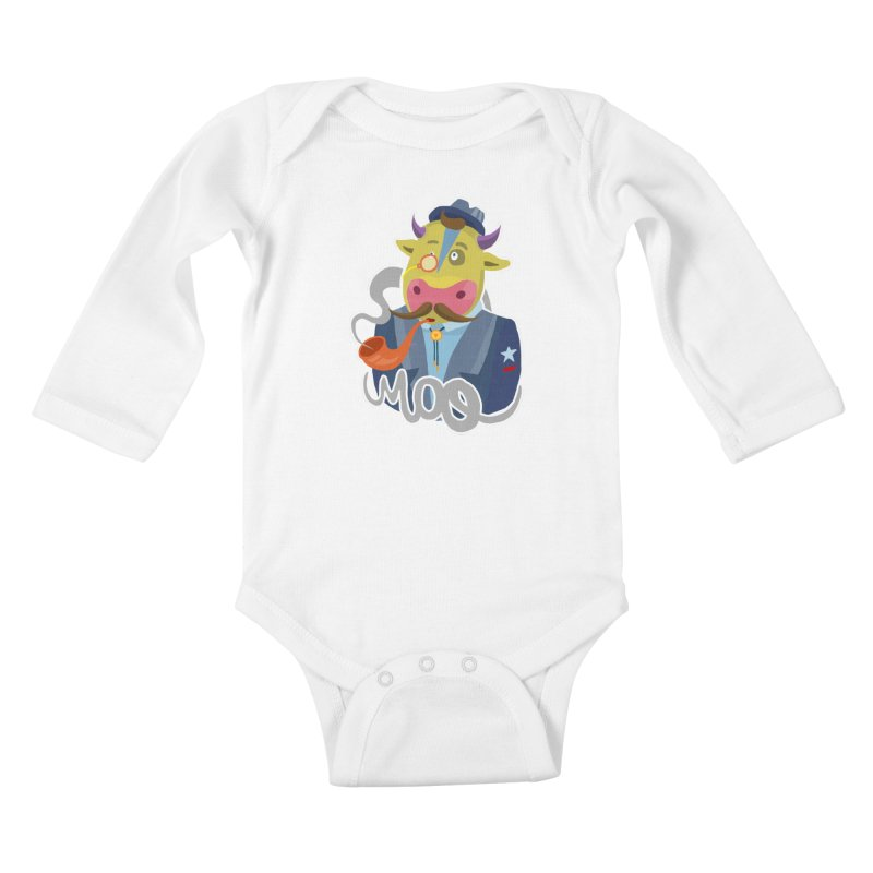 Bull master Kids Baby Longsleeve Bodysuit by shewo's Artist Shop