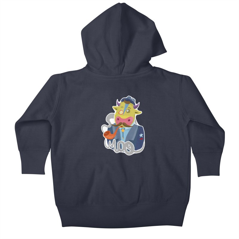 Bull master Kids Baby Zip-Up Hoody by shewo's Artist Shop