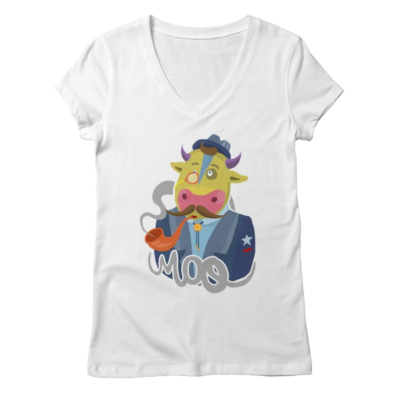Bull master Women's V-Neck by shewo's Artist Shop