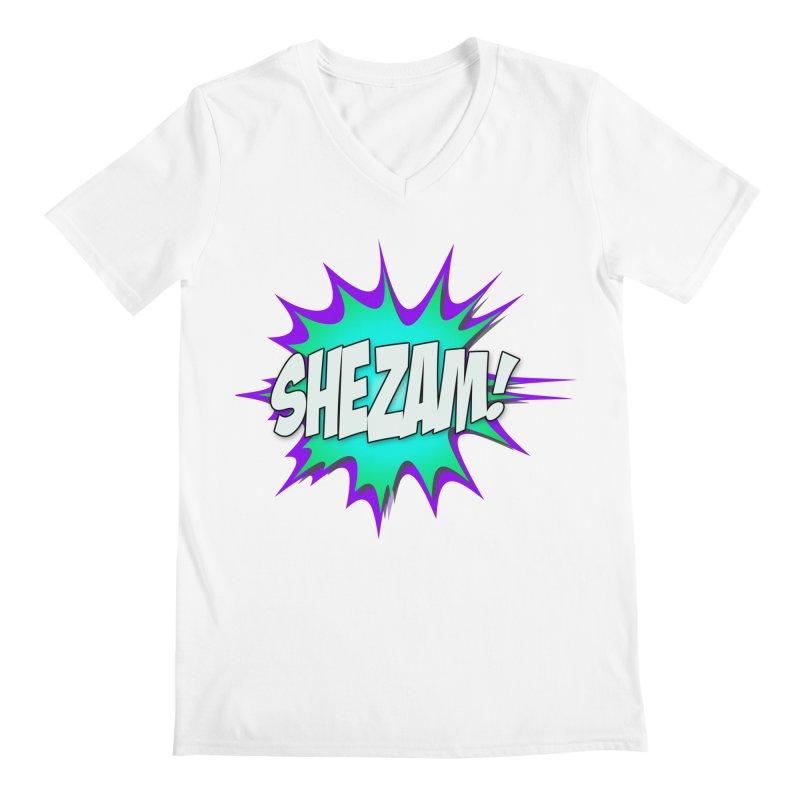 Shezam! Men's V-Neck by Shezam Pod