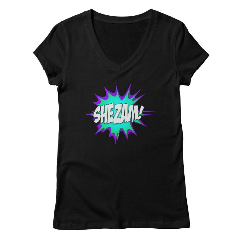 Shezam! Women's V-Neck by Shezam Pod