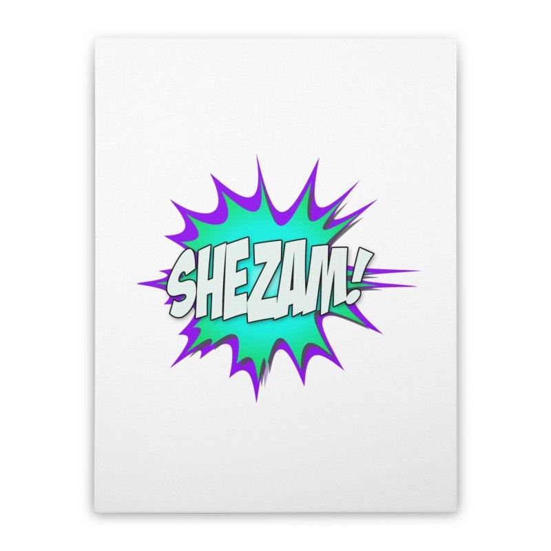 Shezam! Home Stretched Canvas by Shezam Pod