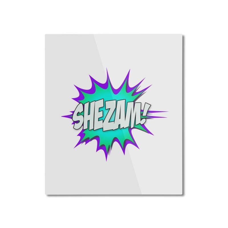 Shezam! Home Mounted Aluminum Print by Shezam Pod