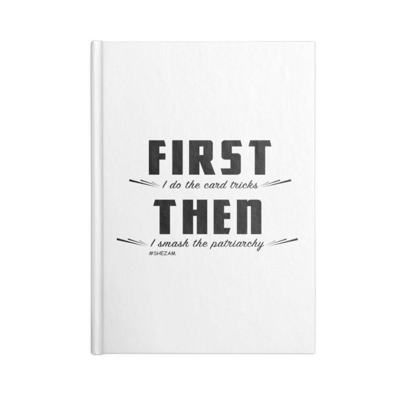 First/Then (light background) Accessories Notebook by Shezam Pod