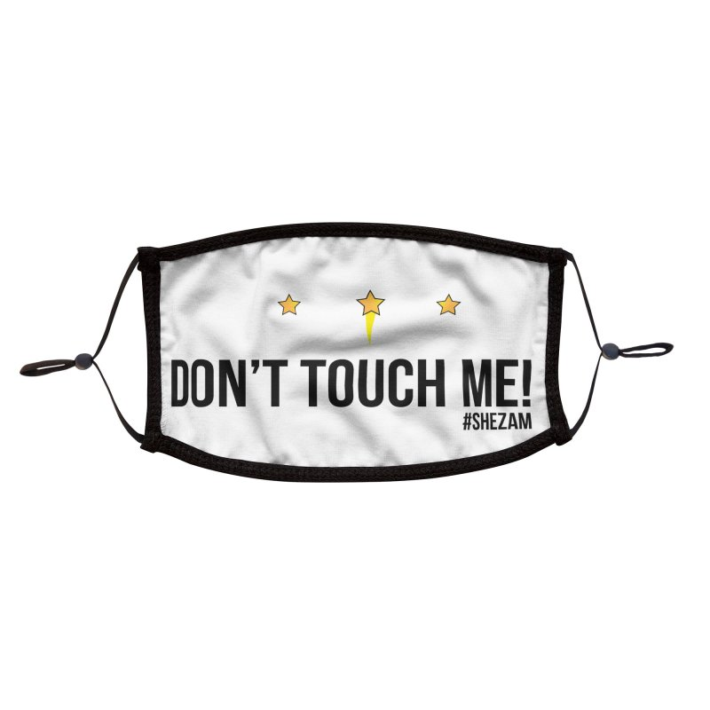 Don't Touch Me (light background) Accessories Face Mask by Shezam Pod