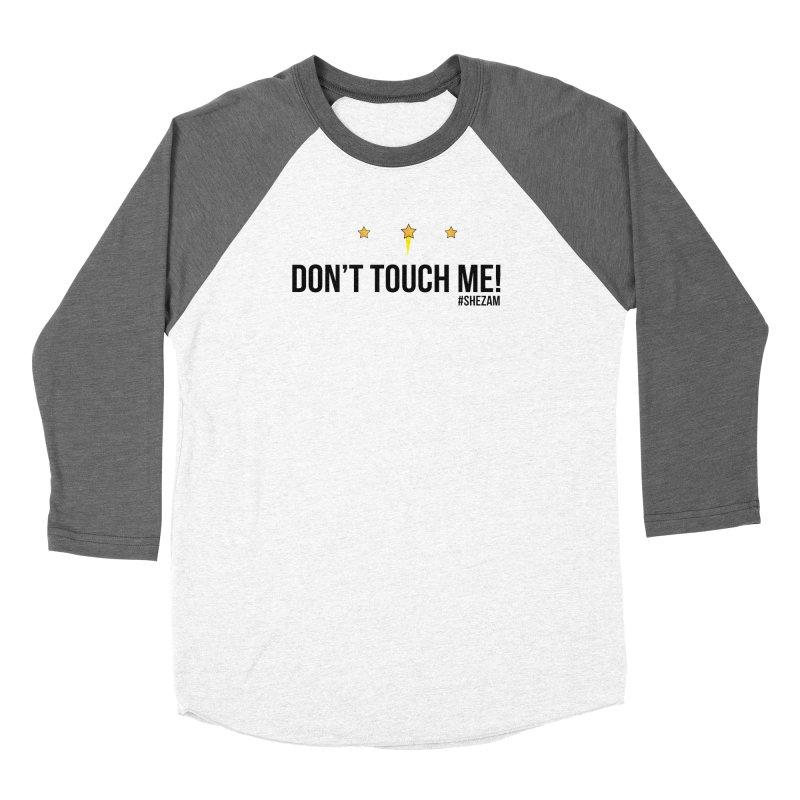 Don't Touch Me (light background) Women's Longsleeve T-Shirt by Shezam Pod