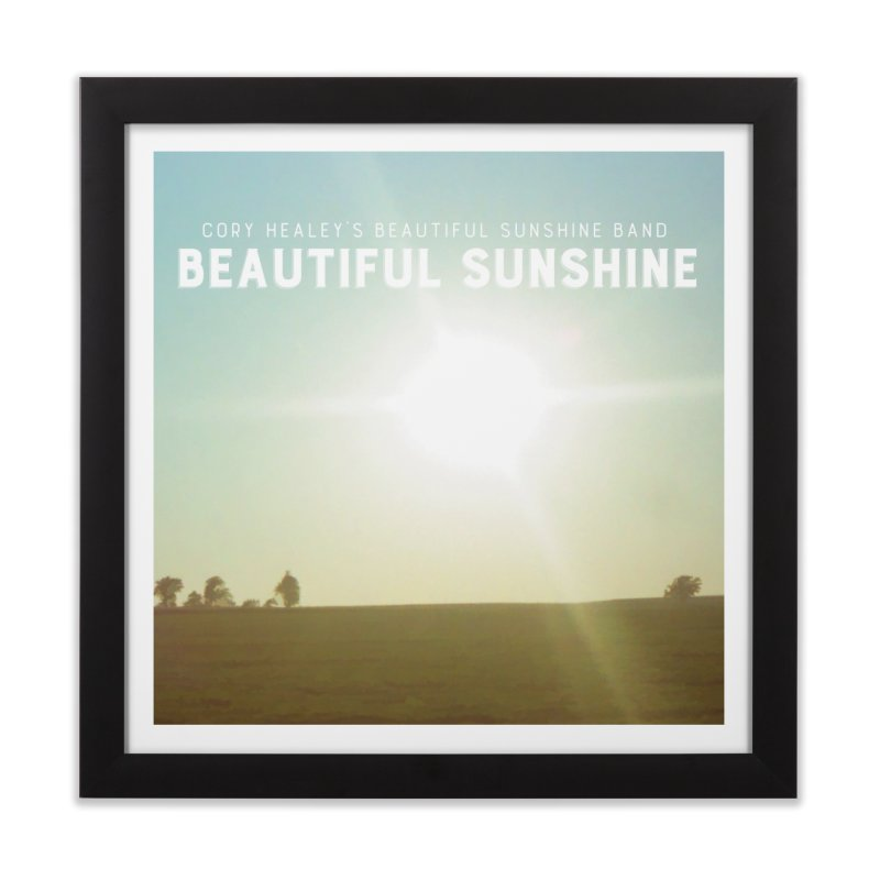 Cory Healey's Beautiful Sunshine Cover Home Framed Fine Art Print by shiftingparadigmrecords's Artist Shop