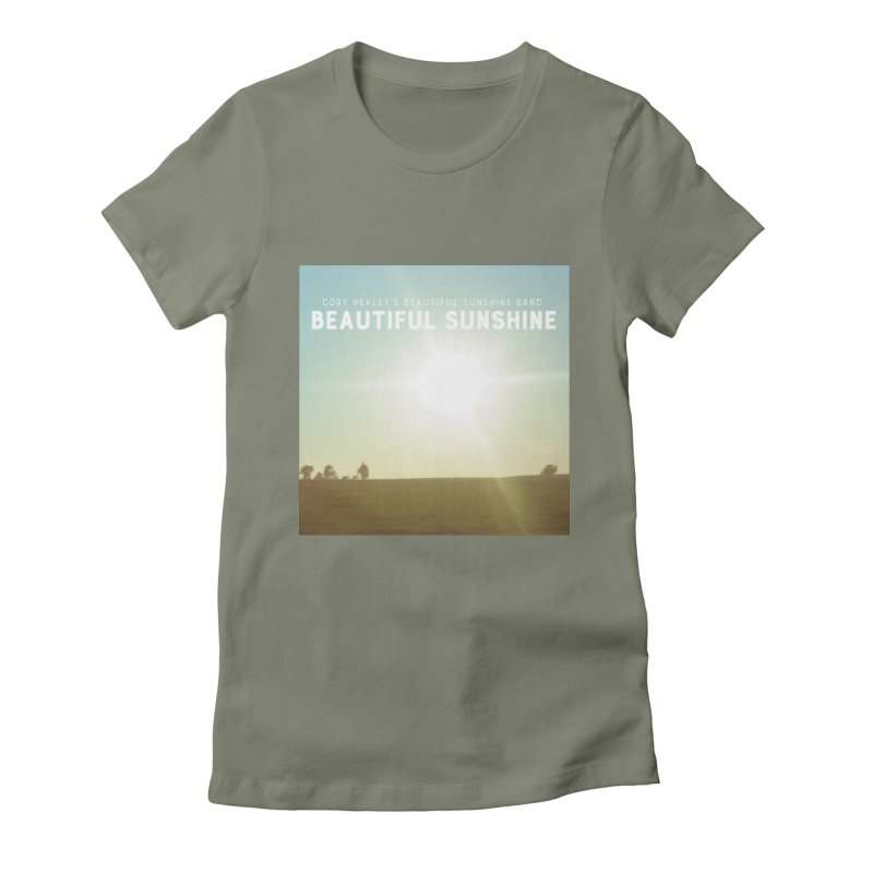 Cory Healey's Beautiful Sunshine Cover Women's Fitted T-Shirt by shiftingparadigmrecords's Artist Shop