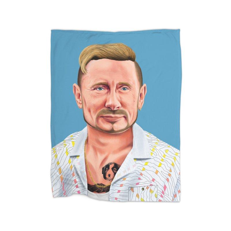 Vladimir Putin Home Blanket by shimoni's Artist Shop