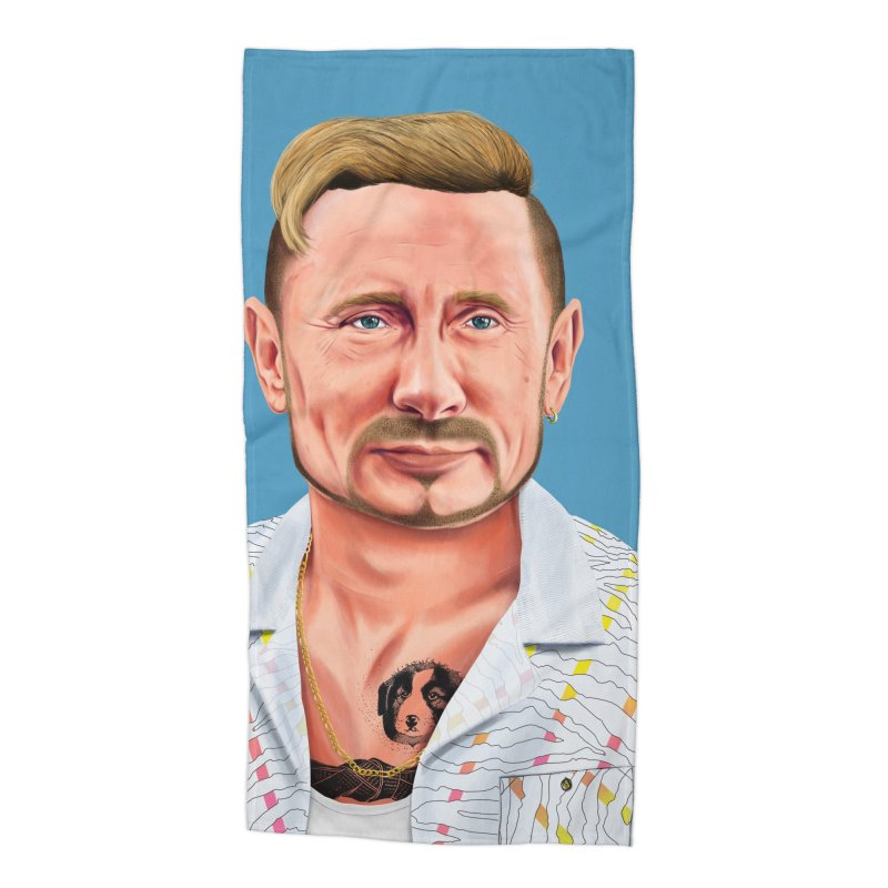Vladimir Putin Accessories Beach Towel by shimoni's Artist Shop