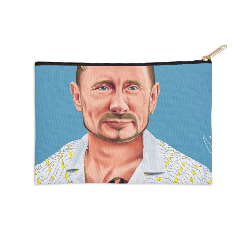 Vladimir Putin Accessories Zip Pouch by shimoni's Artist Shop