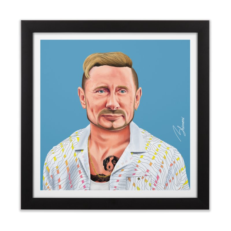 Vladimir Putin Home Framed Fine Art Print by shimoni's Artist Shop