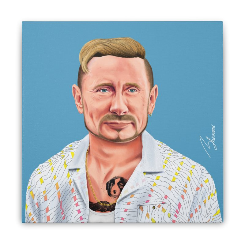 Vladimir Putin Home Stretched Canvas by shimoni's Artist Shop