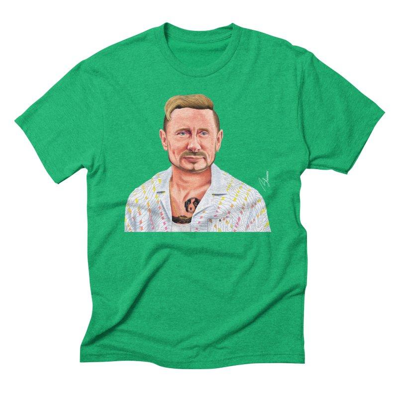 Vladimir Putin Men's Triblend T-shirt by shimoni's Artist Shop