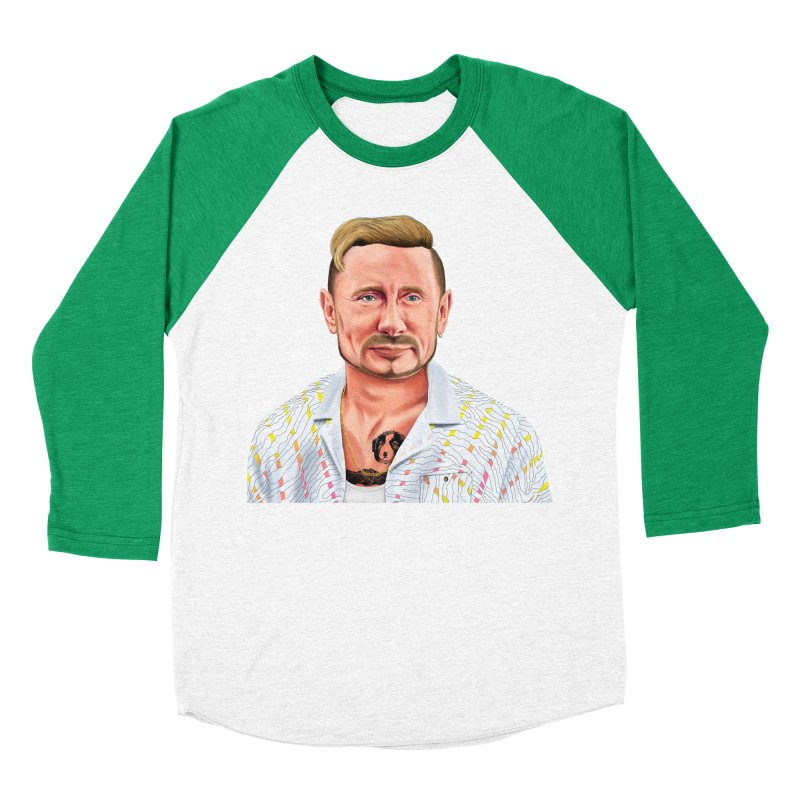 Vladimir Putin Men's Baseball Triblend T-Shirt by shimoni's Artist Shop