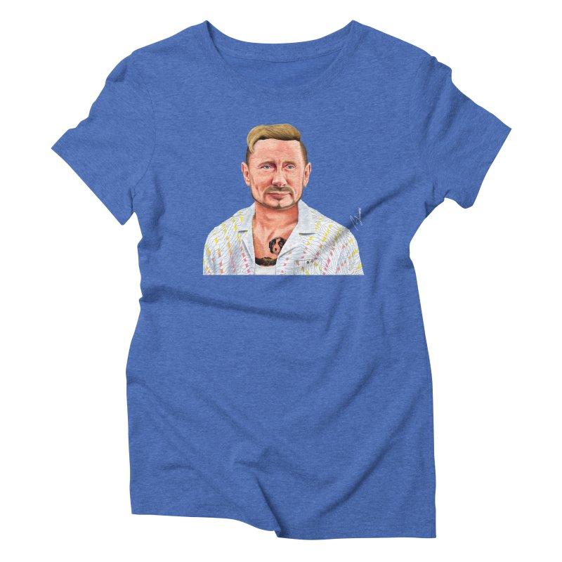 Vladimir Putin Women's Triblend T-shirt by shimoni's Artist Shop