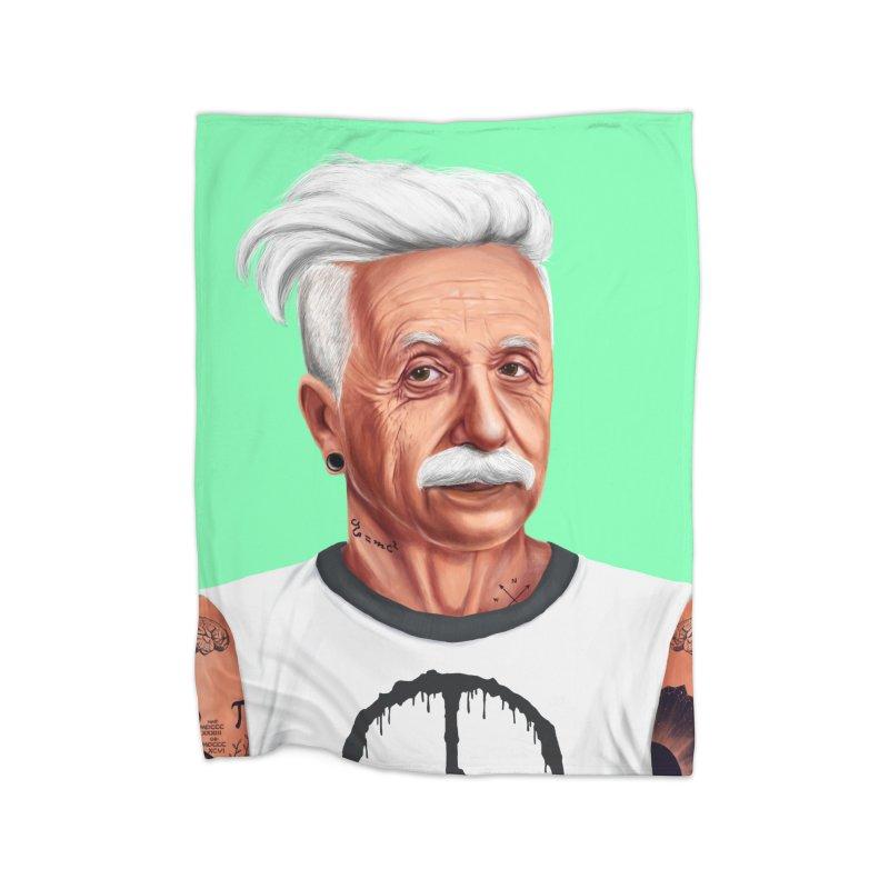 Albert Einstein Home Blanket by shimoni's Artist Shop